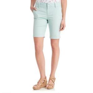 G.H. Bass & Co mint Bermuda cotton stretch shorts